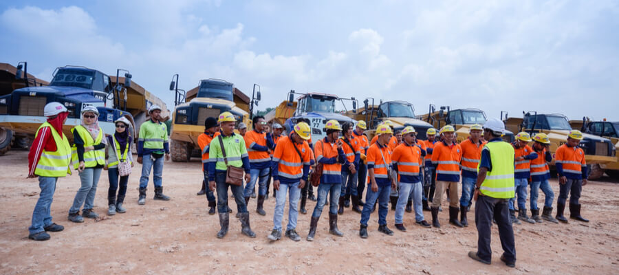 Environmental, Safety and Health training for construction workers on site